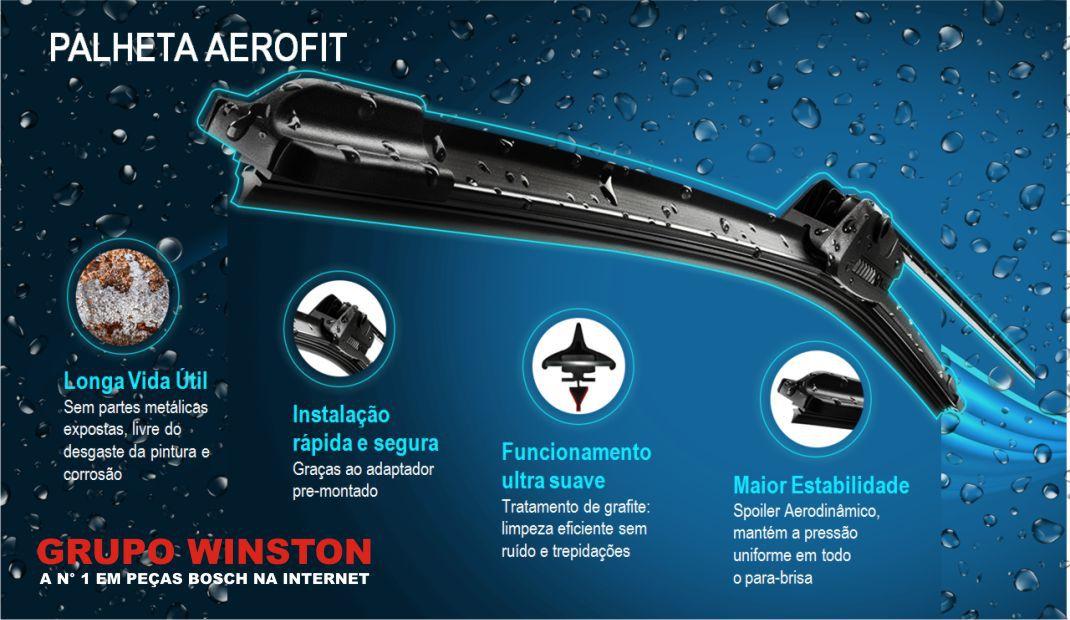 Palheta Bosch Aerofit Limpador de parabrisa Bosch TOYOTA YARIS Hatch / Sedan 2017 em diante