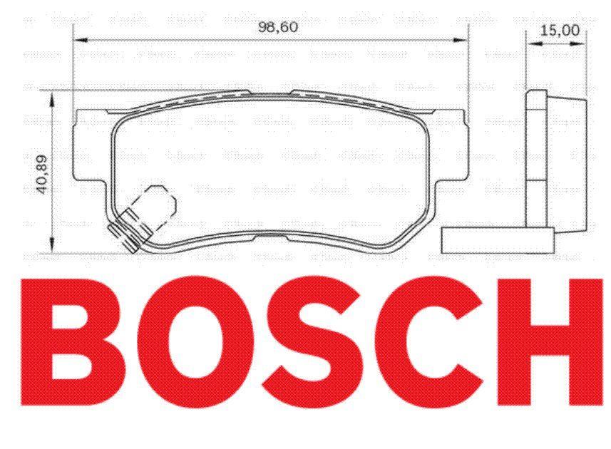 Pastilhas Dianteira E Traseiras Bosch Actyon Rexton Ssangyong