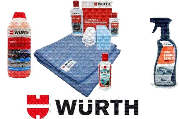 Super Kits Wurth Limpeza Automotiva Shampoo Pano Kit Couro Cera Water Off