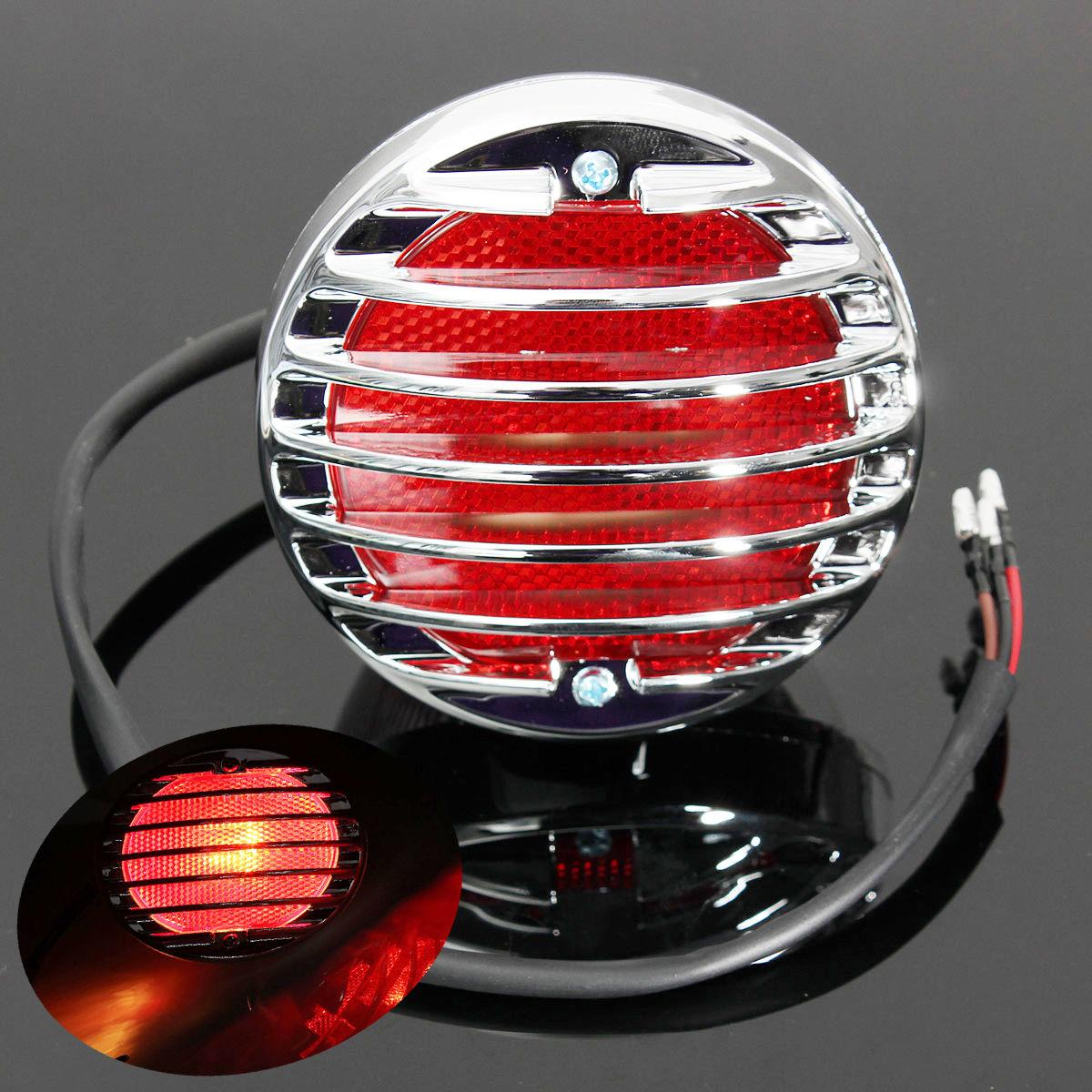 Lanterna Traseira  Bobber Cromada com Grade  - Race Custom