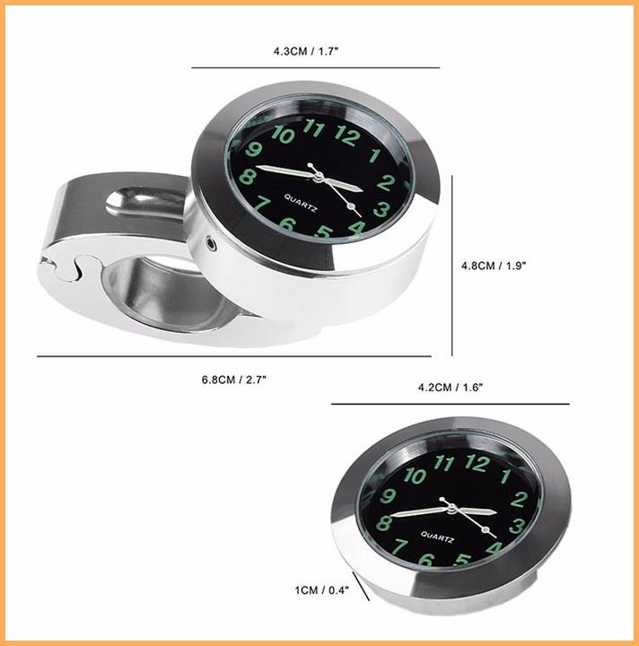 Relógio Cromado para Guidão 7/8´ e 1´  - Race Custom