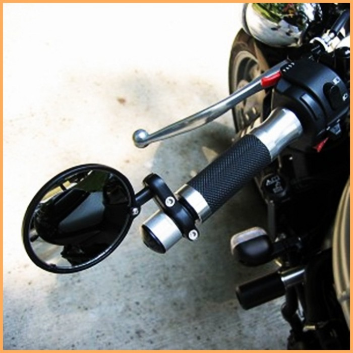 Espelho Retrovisor Café Racer Cromado - PAR  - Race Custom