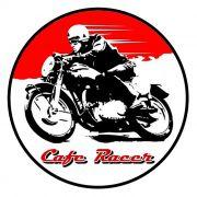 Adesivo Cafe Racer Red - Unidade
