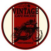 Adesivo Café Racer Vinage - Unidade