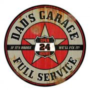 Adesivo Dads Garage Full Service Old - Unidade