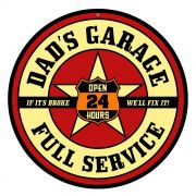 Adesivo Dads Garage Full Service - Unidade