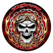 Adesivo Highway Outlaw - Unidade