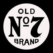Adesivo OLD Nº7 em Plotter Branco - Unidade