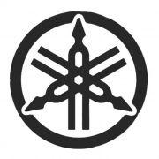 Adesivo Yamaha Logo Preto em Plotter - Unidade
