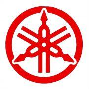 Adesivo Yamaha Logo Vermelho em Plotter - Unidade