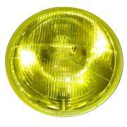 Bloco Óptico Farol Compatível Harley Davidson Linha Softail - 7 Polegadas Amarelo