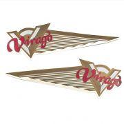 Emblema de Tanque Virago 250, 535, 750 e 1100 (Adesivo Dourado) - PAR