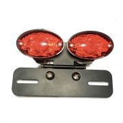 Lanterna Dupla Led Vermelha + Luz Placa Custom Chopper