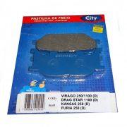 Pastilha de Freio Virago XV 250 (D) Virago XV 1100 (D) e Horizon 150 (D)