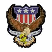Patch Bordado Águia para Colete - 29 x 26,5 Cm - Sem Termocolante