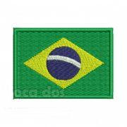 Patch Bordado Bandeira Brasil - 7 x 10 Cm