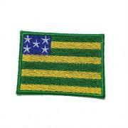 Patch Bordado Bandeira Goiás - 5 x 7 Cm