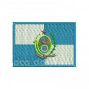 Patch Bordado Bandeira Rio de Janeiro - 5 x 7 Cm