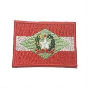 Patch Bordado Bandeira Santa Catarina - 5 x 7 Cm