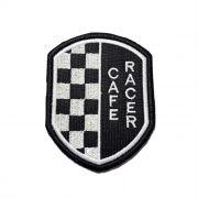 Patch Bordado Café Racer Escudo - 9 x 7 Cm
