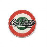 Patch Bordado Cafe Racer Itália - 8 x 8 Cm