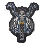 Patch Bordado Crazy Rider - 22 x 20 Cm - Sem Termocolante
