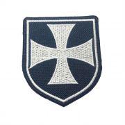 Patch Bordado Cruz de Malta Escudo - 8 x 7 Cm