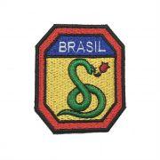 Patch Bordado FEB-  A Cobra Vai Fumar 2ª Guerra - 7 X 6 Cm