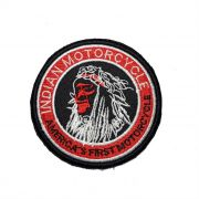 Patch Bordado Indian First Motorcycle - 8,5 x 8,5 Cm