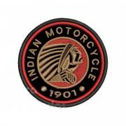 Patch Bordado Indian Motorcycle 1901 - 8,5 x 8,5 Cm