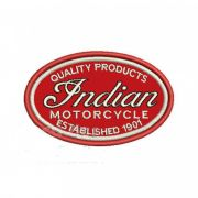 Patch Bordado Indian Motorcycle - 5,5 x 9 Cm