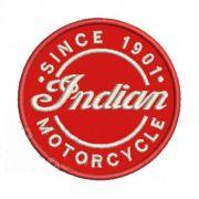 Patch Bordado Indian Motorcycle - 8 x 8 Cm