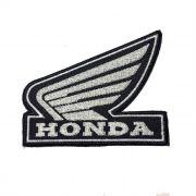 Patch Bordado Logo Honda Asa Branca - 8 X 10 Cm
