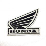 Patch Bordado Logo Honda Asa Preta - 8 X 10 Cm