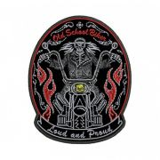 Patch Bordado Loud and proud Old school biker - 12 x 9 Cm