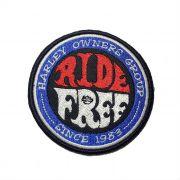 Patch Bordado Ride Free - 9 cm