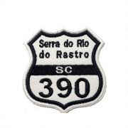 Patch Bordado Rota 390 Serra Rio do Rastro - 7,5 X 7 CM