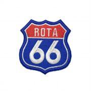 Patch Bordado Rota 66 - 7,5 X 7 CM