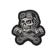 Patch Bordado Skull Rider - 7,5 X 7 Cm