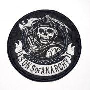 Patch Bordado Sons Of Anarchy - 12 x 12 Cm