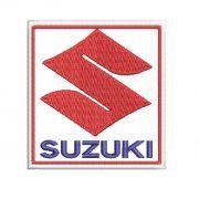 Patch Bordado Suzuki - 7 X 6,5 Cm