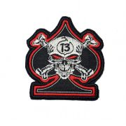 Patch Bordado Valete Skull 13  - 8,5 x 8 cm