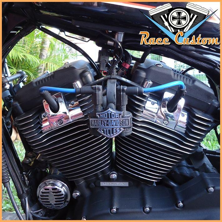 Cabo de Vela Harley Davidson Relocação Bobina - Azul e Preto  - Race Custom