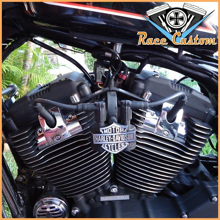Cabo de Vela Harley Davidson Relocação Bobina - Preto  - Race Custom