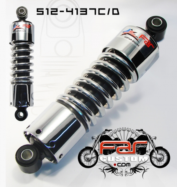 Amortecedor para Harley Davidson Dyna 11 Polegadas Cromado Far - PAR  - Race Custom