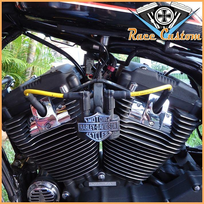 Cabo de Vela Harley Davidson Relocação Bobina - Amarelo e Preto  - Race Custom