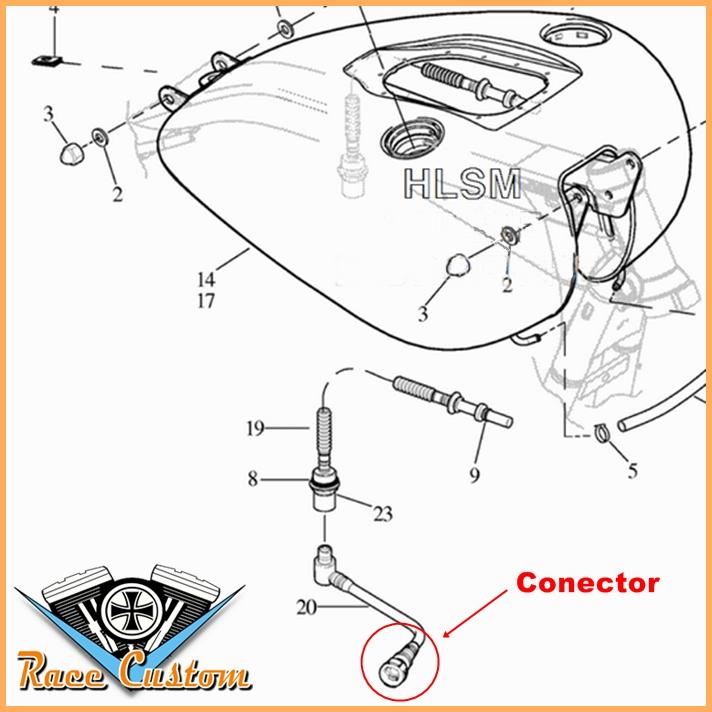 Conector Engate Rápido Injeção Harley Big Twin  - Race Custom