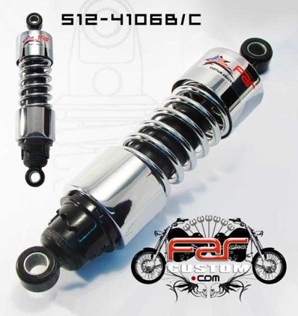 Amortecedor para Harley Davidson Sportster 11,5 Polegadas Cromado Far - PAR  - Race Custom