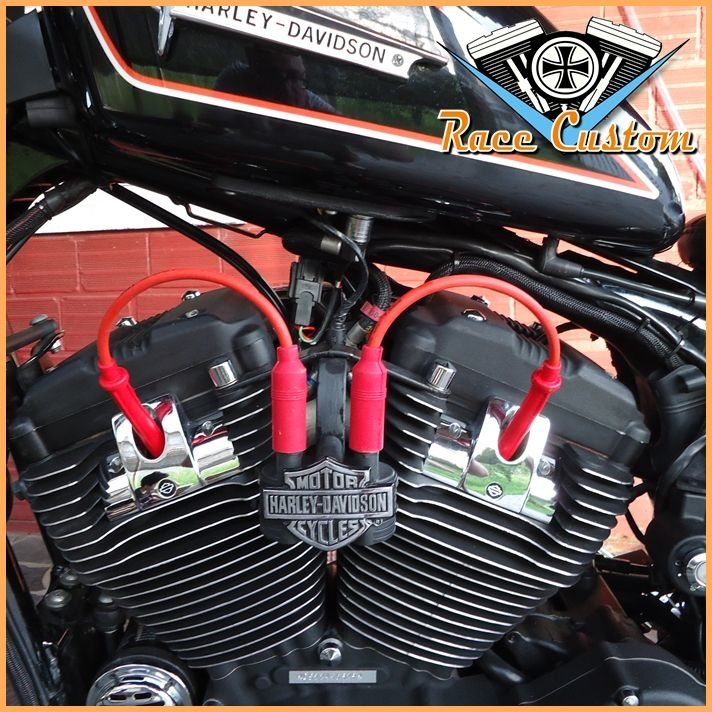 Cabo de Vela Harley Davidson Realocação Bobina - Vermelho - Mod II  - Race Custom