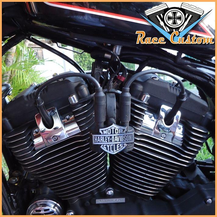 Cabo de Vela Harley Davidson Realocação Bobina - Preto Mod II  - Race Custom